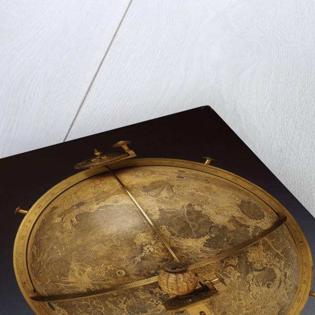 Selenographia globe by John Russell