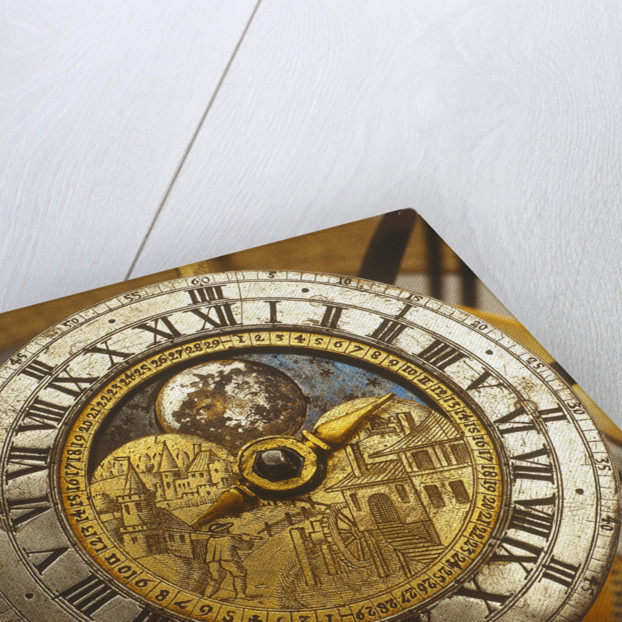 Dial detail of celestial clockwork globe by Isaac Habrecht II