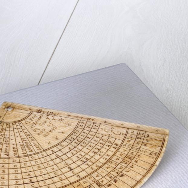 Reverse of Gunter quadrant by Ann Shepard
