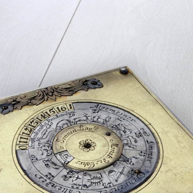 Crescent dial, underside of base by Johann Martin