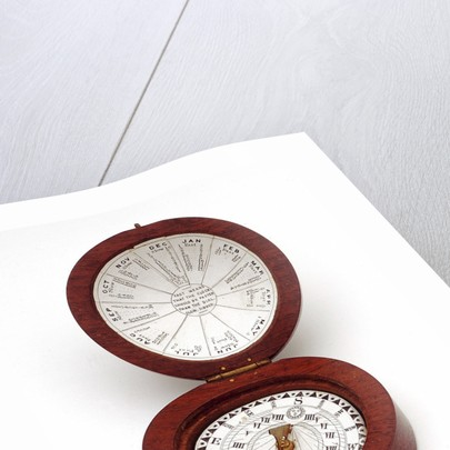 Magnetic dial, with case by unknown