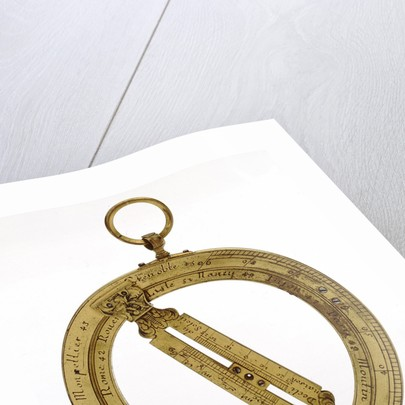 Universal equinoctial ring dial by Jean Baptiste Nicolas Delure