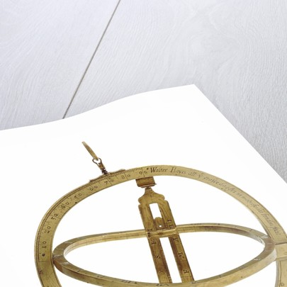 Universal equinoctial ring dial by Walter Hayes
