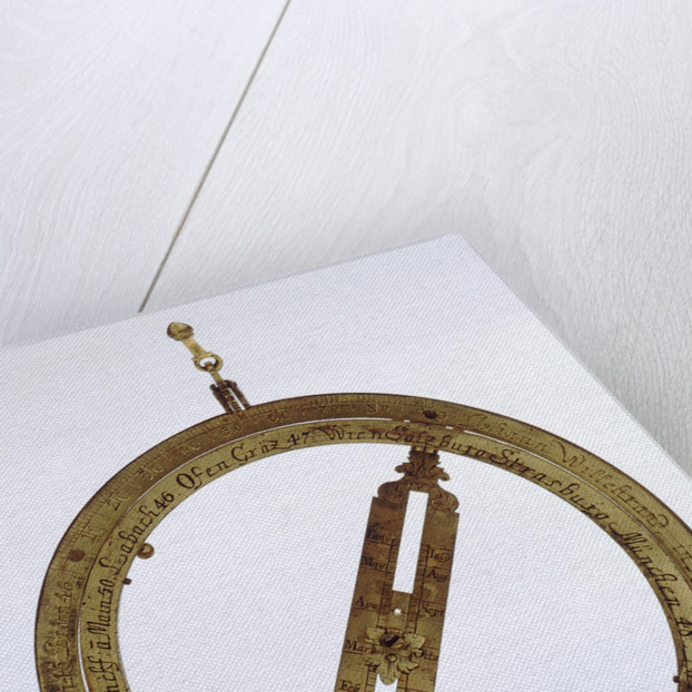 Universal equinoctial ring dial by Johann Matthias Willebrand