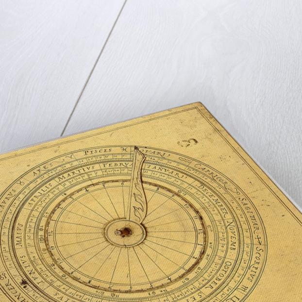 Regiomontanus dial, underside by Johann Krabbe