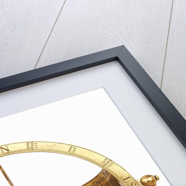 Equinoctial dial by Johann Michael Vogler