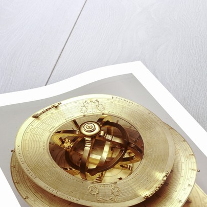 Universal equinoctial armillary dial by Mathias Hauser