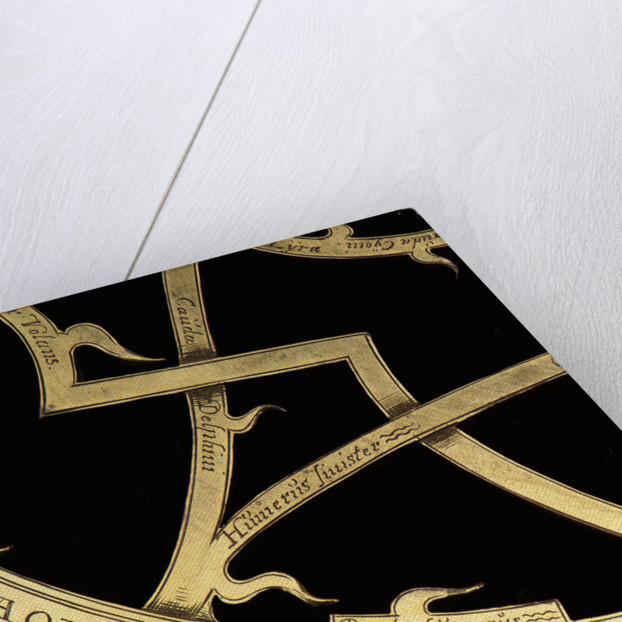 Astrolabe: detail of rete by Erasmus Habermel