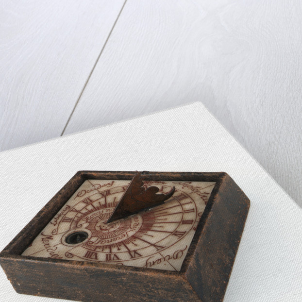 Horizontal dial, in case by unknown
