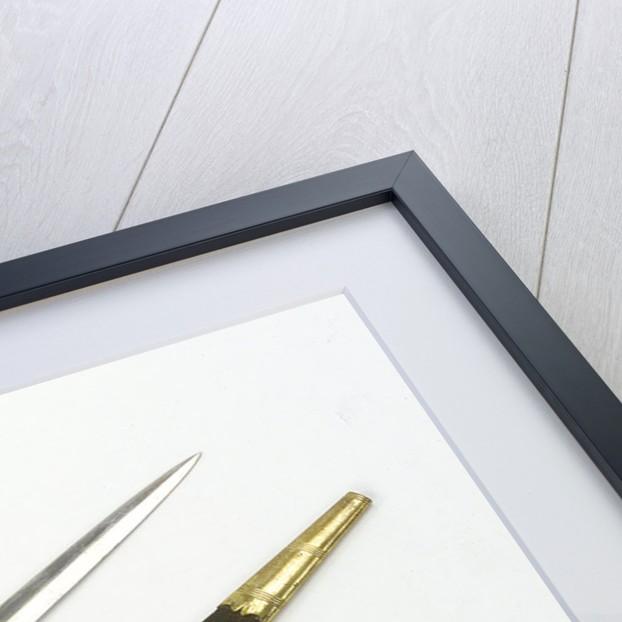 Straight bladed dirk by E. & E. Emanuel
