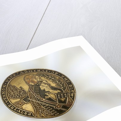 Enamelled metal disc decorated with a depiction of Admiral Edward Vernon by unknown