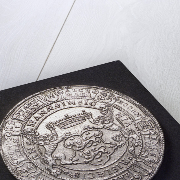 Medal commemorating sea trade revived, 1596; reverse by unknown