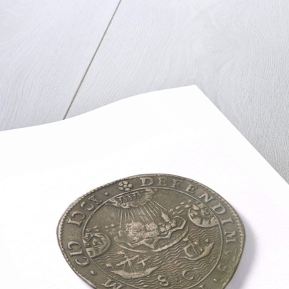 Counter commemorating the Battle of Rhinberck and the siege of Ostend, 1601; reverse by unknown
