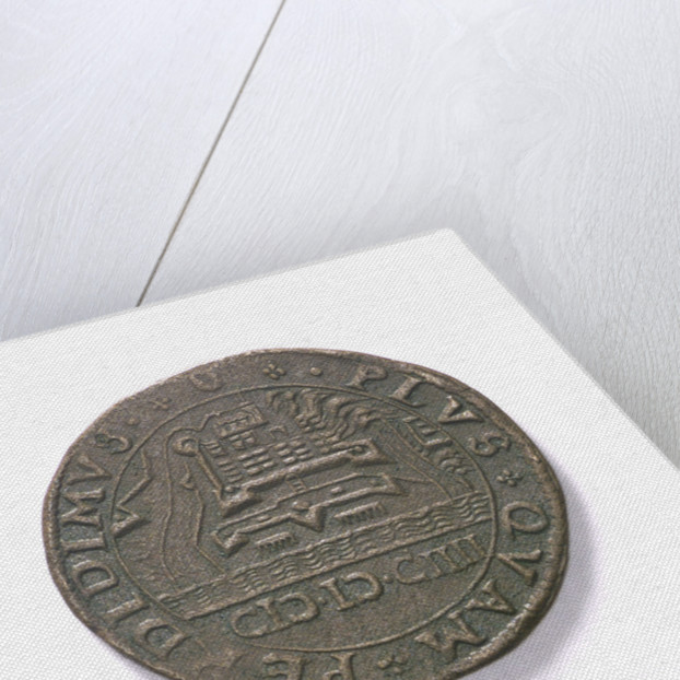 Counter commemorating the Battle of Sluys, 1603 and the defence of Ostend, 1604; reverse by unknown