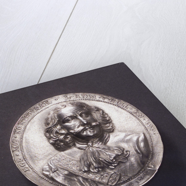 Medal commemorating the Battle of Lowestoft and the death of Admiral Kortenaar, 1665; obverse by O.M.