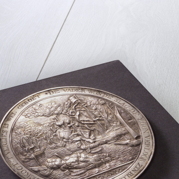 Medal commemorating action off the Helder and Captain Van Gelder, 1673; reverse by C. Adolfszoon