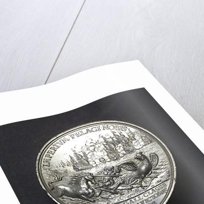 Medal commemorating the Battle of La Hogue, 1692; reverse by J. Boskam