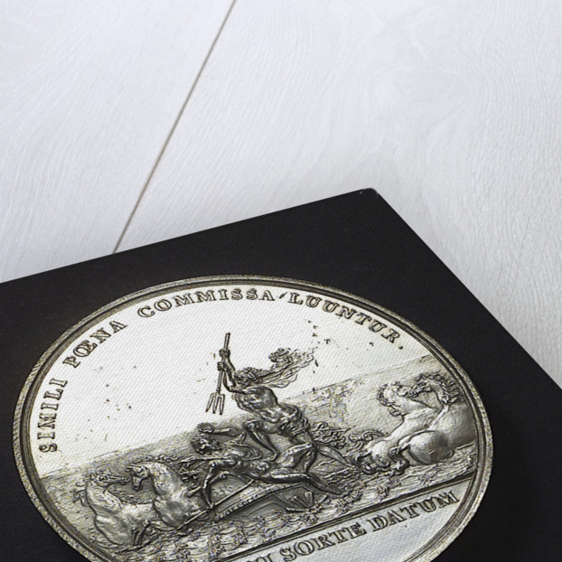 Medal commemorating the Battle of La Hogue, 1692; reverse by Jan Luder