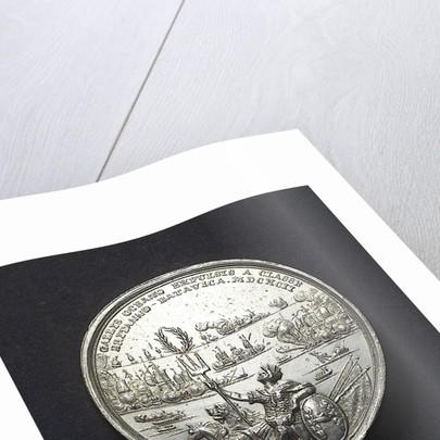 Medal commemorating the Battle of La Hogue, 1692; obverse by R. Arondeaux