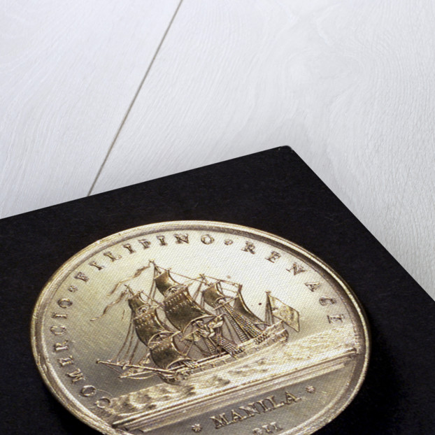 Medal commemorating commerce with the Philippines; reverse by J.C. Gil