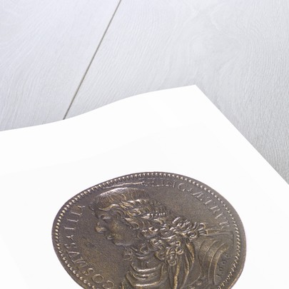Medal commemorating the naval power of Tuscany; obverse by G.F. Travani