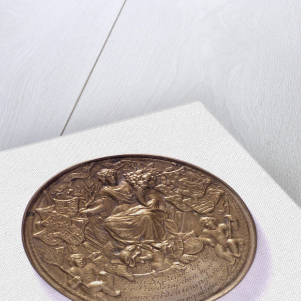 Medal commemorating ships burnt in the Medway and the proclomation of the peace of Breda, 1667; obverse by P.van Abeele
