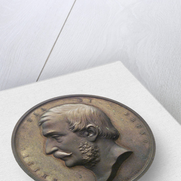Medal commemorating Captain Faa di Bruno and the sinking of the Re d'Italia; obverse by A. Pieroni