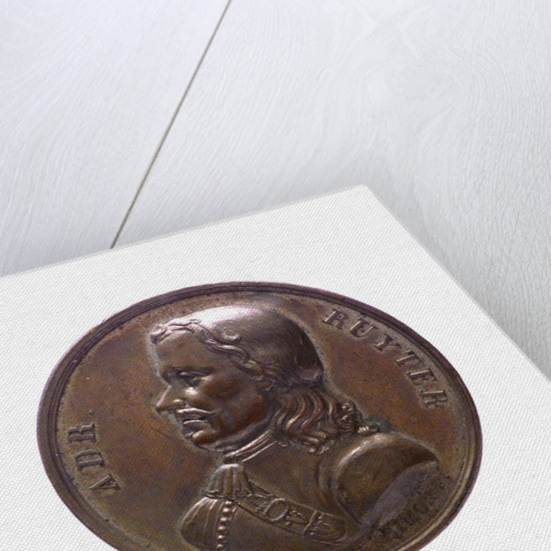 Medal commemorating Admiral Michel Adrianzoon de Ruyter; obverse by J.H. Simon