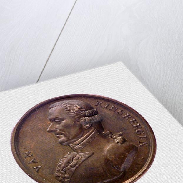 Medal commemorating Admiral J. H. van Kinsbergen; obverse by J.H. Simon