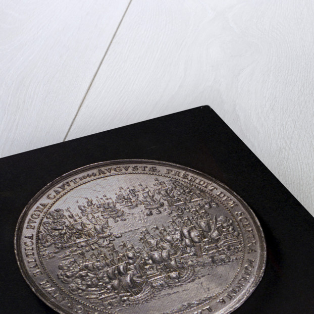 Medal commemorating the accession of Queen Christina and the Battle of Femern, 1644; reverse by S. Dadler