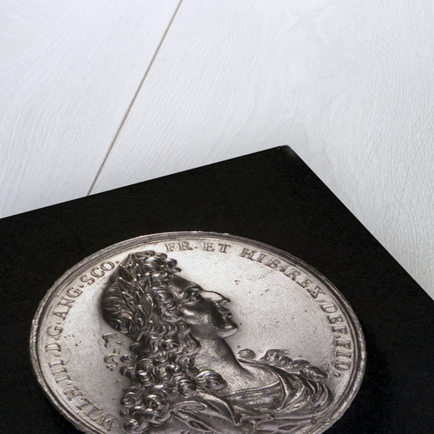 Medal commemorating the Battle of La Hogue, 1692; obverse by G. Hautsch