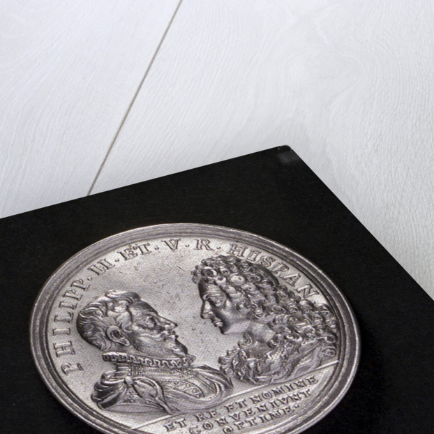Medal commemorating the Battle of Cape Passaro and the Spanish Armada compared; obverse by G.W. Vestner