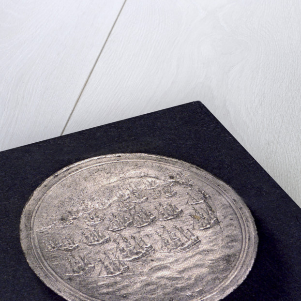 Medal commemorating Danish assistance to England; obverse by B. Meier