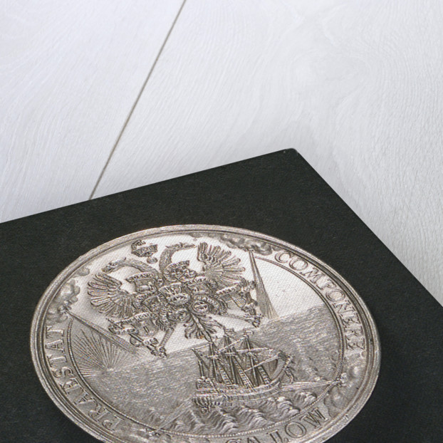 Medal commemorating the settlement of the dispute between Adalbert I and the Boineberg family; reverse by C. Wermuth