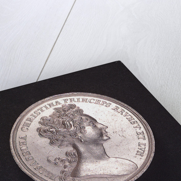 Medal commemorating the voyage of Princess Elisabeth of Brunswick and Luneburg; obverse by unknown