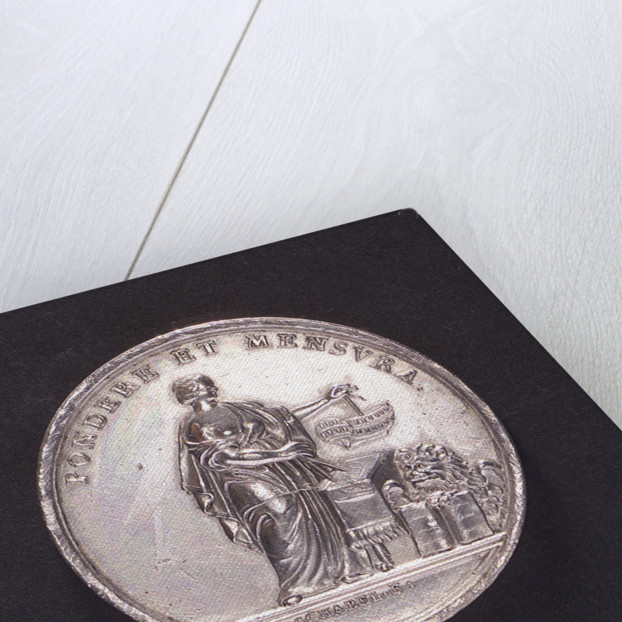 Medal commemorating ship construction in Venice; obverse by A. Schabel