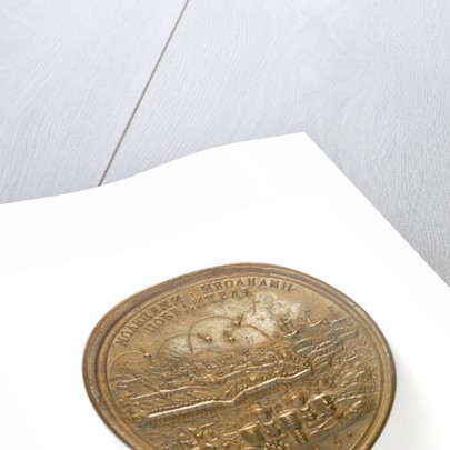 Medal commemorating the capture of Azov, 1696; reverse by S. Judin