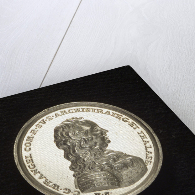 Medal commemorating Admiral Count Wragel; obverse by M. Frumerie