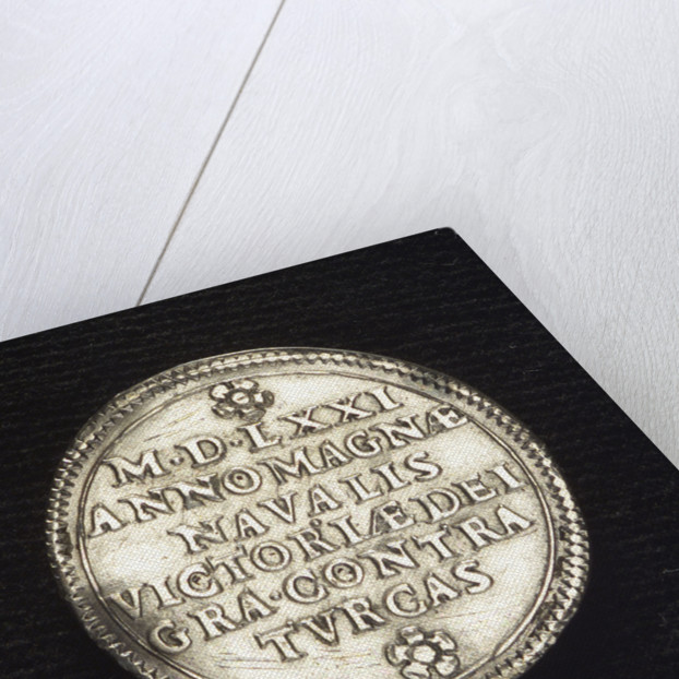 Counter commemorating the Battle of Lepanto, 1571; reverse by unknown