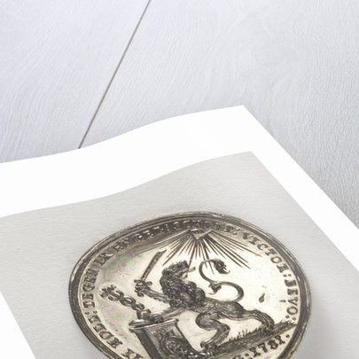 Counter commemorating the Battle of Doggerbank, 1781; obverse by J.M. Lageman