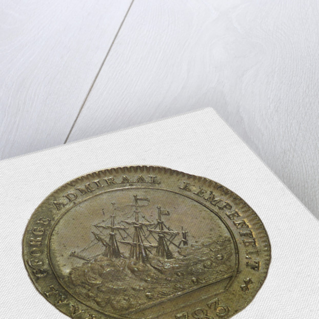 Counter commemorating the blockade of Gibraltar, 1783 and the loss of the 'Royal George', 1782; reverse by unknown