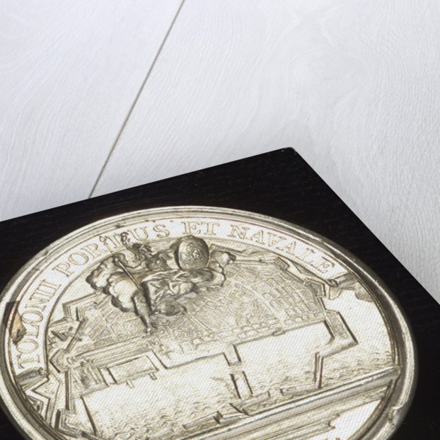 Medal commemorating Toulon being made a naval base; reverse by J. Mauger