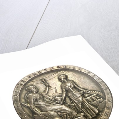 Medal commemorating the opening of the Suez Canal, 1869; obverse by O. Roty