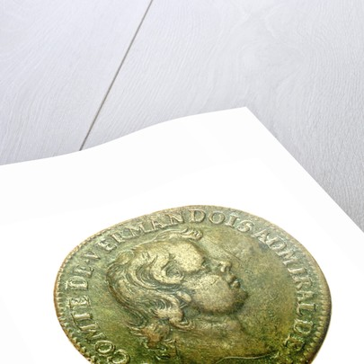 Counter depicting Admiral Louis de Bourbon, Comte de Vermandois (1667-1683) in childhood; obverse by unknown
