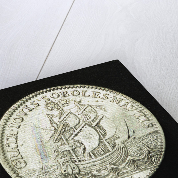 Counter commemorating the Battle of Sole Bay, 1672; reverse by J.B. Dufour