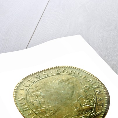 Counter commemorating the capture of Tobago, 1677; reverse by unknown