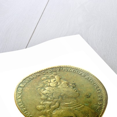Counter commemorating Louis A. de Bourbon, Duc du Maine, Grandmaster of Artillery; obverse by H. Roussel