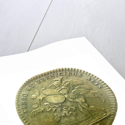 Counter commemorating Montcalm's successes in Canada; reverse by J.C. Roettier