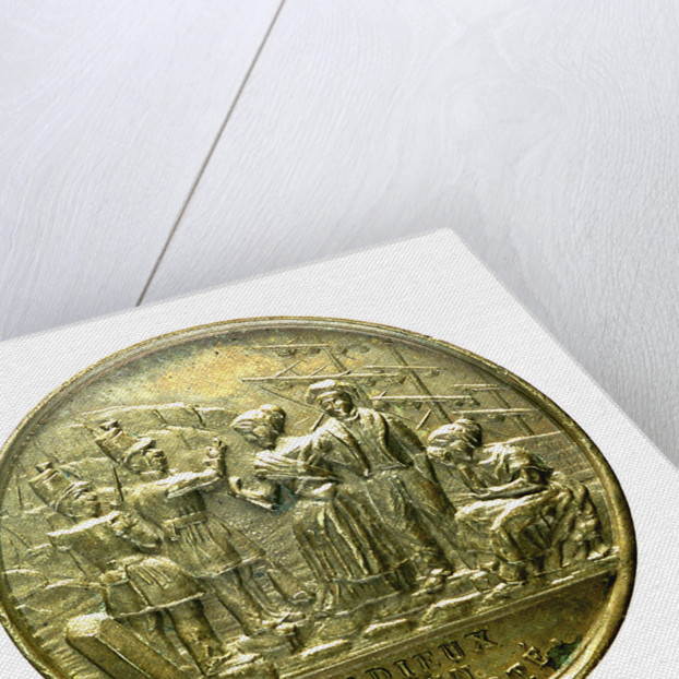 Counter commemorating the embarkation of the insurgents at Le Havre, 1848; obverse by unknown