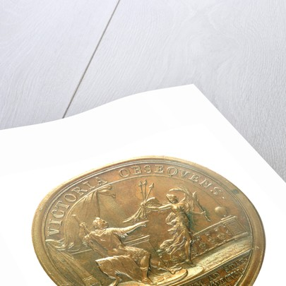 Medal commemorating the action off Beachy Head, 1690; reverse by J. Mauger